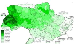 Election turnout for Rada, Oct 2014