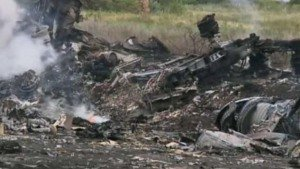Malaysia Airlines Flight MH 17 crash site, screenshot image from The Guardian