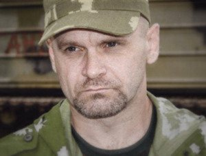 Alexey Mosgovy, commander of the 'Ghost Brigade' self-defense force in Donetsk