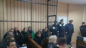 Anti-fascist activists on trial in Odessa, Ukraine on Nov 27, 2014 (photo by Timer.od.ua)