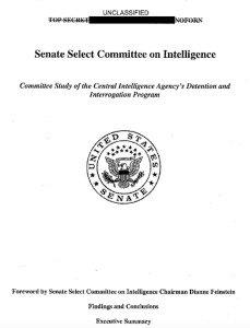 US Senate 'executive summary' of unreleased report on CIA torture, Dec 2014