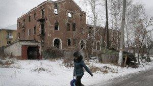 Destroyed house in the Donetsk region, photo by Efrem Lukatsky-Associated Press