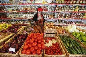Food retailer in Russia, photo by Maxim Zmeyev, Reuters