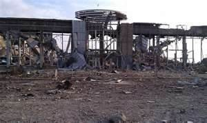 Luhansk airport following its destruction by Ukraine in July 2014