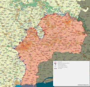 Situation map of southeast Ukraine, Jan 27, 2015