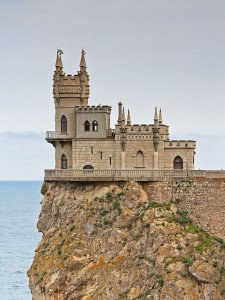 Swallow's Nest castle in Crimea, built in 1912, image from Wikipedia
