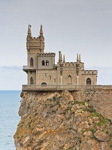 Swallow's Nest castle in Crimea, built in 1912, image from Wikipedia