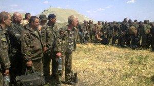 Ukraine soldiers seek refuge in Russia in summer 2014, photo by Yulia Nasulina, RIA Novosti
