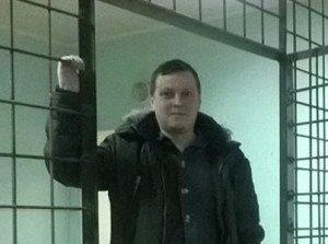 Victor Shapinov in detention in Donetsk, Dec 2014