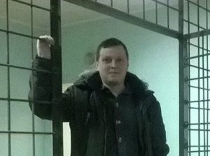 Victor Shapinov in detention in Donetsk, Dec 2014
