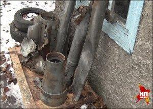 Artillery shell casings in eastern Ukraine, photo in Komsomolskaia Pravda (news journal in Donbas)