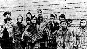 Auschwitz Nazi concentration camp children prisoners, AP photo