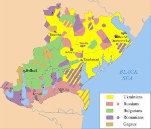 Ethnic mix of Budjak region, southwest Ukraine