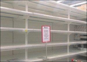 Food shop shelves emptying in Ukraine as value of currency drops, photo on Ukraine Online.com