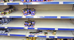 Food shops emptying in Feb 2015 as Ukrainians expect the value of the currency to keep falling, photo Pavel Palamachuk, Sputnik News
