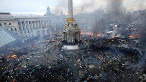 Maidan Square, Feb 2014, photo by Olga Yakimovich-Reuters