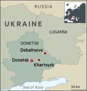 Map Donetsk