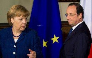 Merkel and Hollande, in 2014
