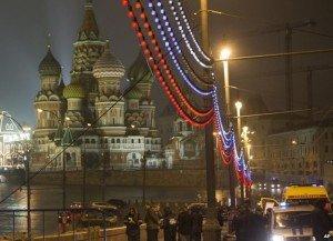 Scene of the killing of Boris Nemtsov on Feb. 27, 2015, photo from BBC