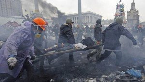 The morning of Feb. 20, 2014 on Maidan Square, photo by Reuters