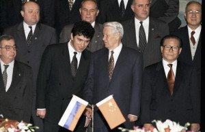 The younger Boris Nemtsov in China with then-Russian President Boris Yeltsin, photo by Vladimir Rodionov, RIA Novosti