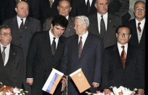 The younger Boris Nemtsov in China with then-Russian President Boris Yeltsin, photo by Vladimir Rodionov, RIA Novosti