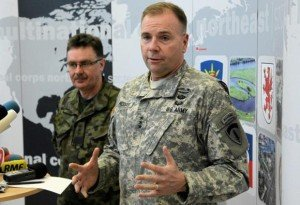 U.S. Army Europe commander Ben Hodges at Szczecin, Poland on Feb. 11, 2015