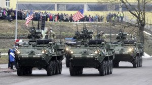 U.S. military in Estonia for Independence Day on Feb. 24, 2015, 300 yards from Russian border, photo by  Ints Kalnins, Reuters