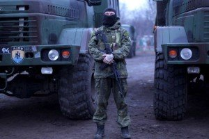 Azov Battalion paramilitary, photo by Nicholas Lazaredes, on ABC.net.au