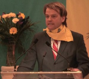 Canadian Minister of Citizenship and Immigration Chris Alexander speaking to pro-Ukraine war fundraising event in Toronto Feb 22, 2015