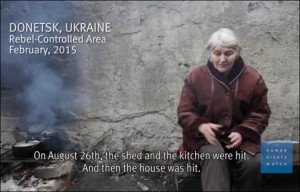 From a video accompanying Human Rights Watch report on eastern Ukraine, March 2015