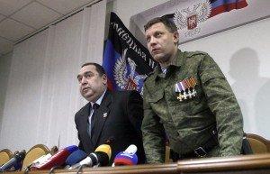 Igor Plotnitsky and Alexander Zakharchenko, photo by Alexander Ermochenko, EPA-TASS