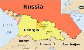 Map of Ossetia and Abkhazia