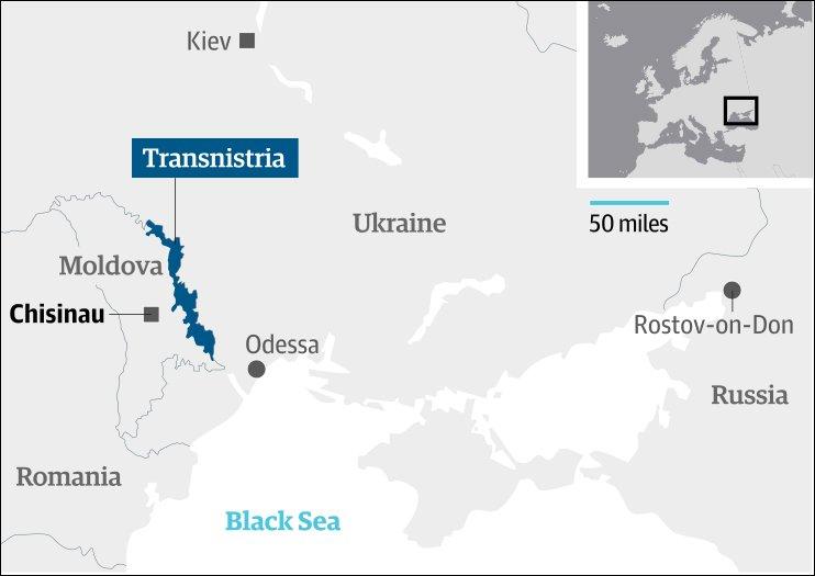 Kiev Is Suppressing Breakaway Transnistria With Economic Blockade - Transnistria map
