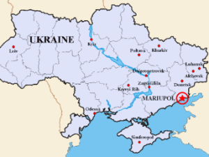Map showing Mariupol