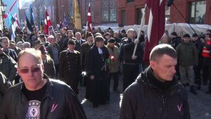 Neo-Nazis in Riga, Latvia commemorate Nazi Waffen-SS division on March 16, 2015