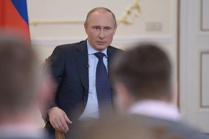 President Vladimir Putin of Russia meeting with media in Moscow on March 4, 2015