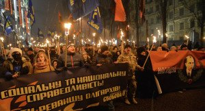 Pro-Bandera commemorations in Ukraine leave many Poles uneasy, photo by Genya Savilov, AFP