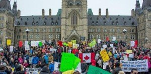 Rally in Ottawa on March 14, 2015 against 'police state' Bill C-51