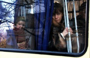 Refugees, photo by Konstantin Sazonchik, TASS