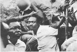 The first prime minister of independent Congo, Patrice Lumumba, arrested and then murdered on Jan. 17, 1961