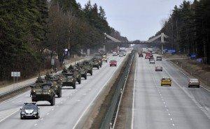 U.S. Army Stryker vehicles in Riga, Latvia on March 22, 2015 as part of U.S. Amry 'Operation Dragoon Ride', photo by Oksana Dzadan, file