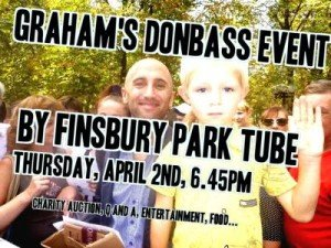 Graham Phillips charity functoin for Donbas April 2, 2015