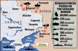 'If Russian troops are on the one side of the border, they must be on the other too'