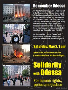 Odessa commemoration in Winnipeg, Canada on May 2, 2015