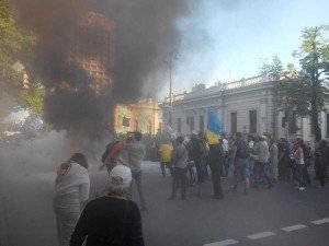 Financial Maidan protest in Kyiv on May 21, 2015 (Twitter)