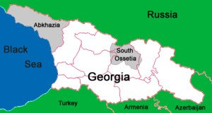 Map Georgia, Ossetia, Abkhazia