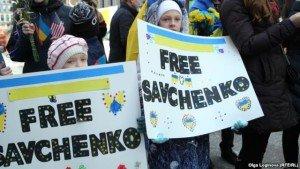 Rally in New York to free accused war criminal Nadiya Savchenko (Olga Loginova, Radio Free Europe)