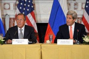 Russian Foreign Minister Sergei Lavrov and U.S. Secretary of State John Kerry (Wikimedia)