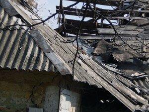 Domicile dans la ville de Donetsk touche par des bombardements des forces armées de l'Ukraine (Laurent Brayard)